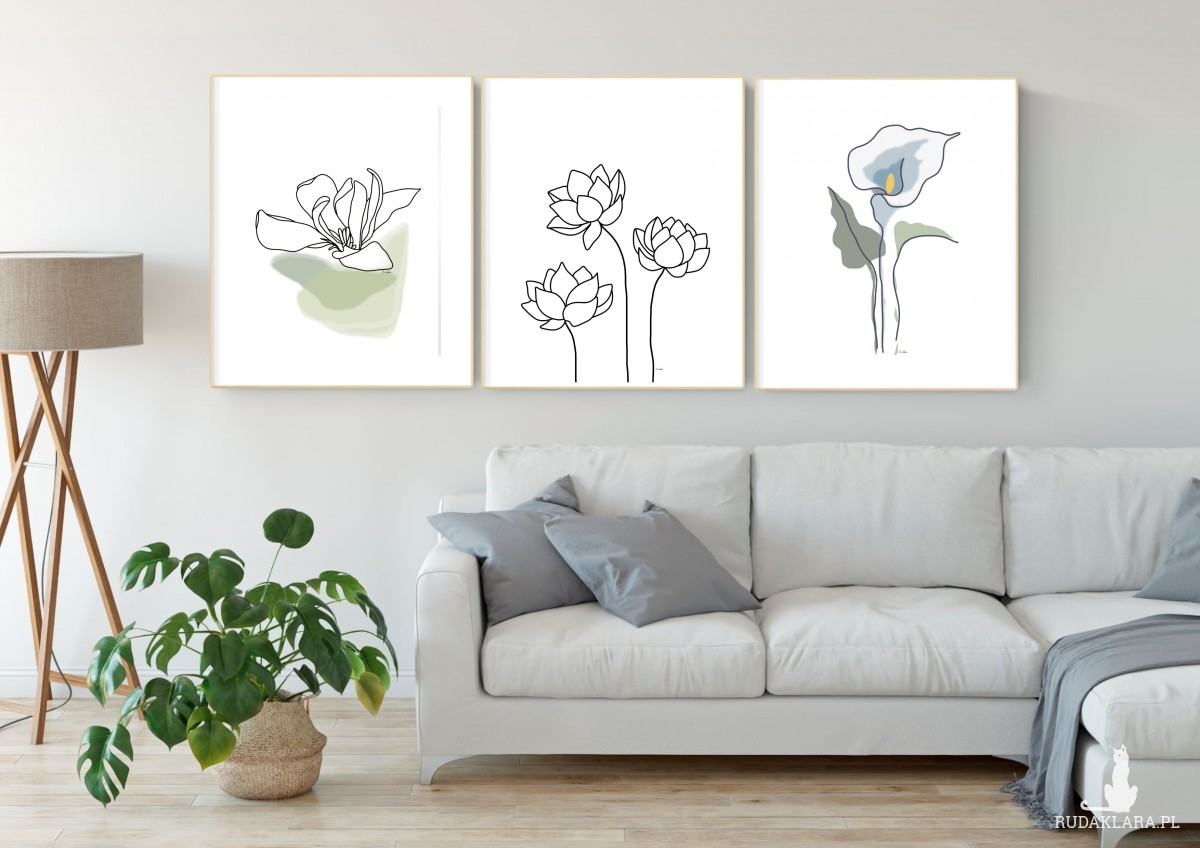 Kwiaty lotosu, grafika autorska