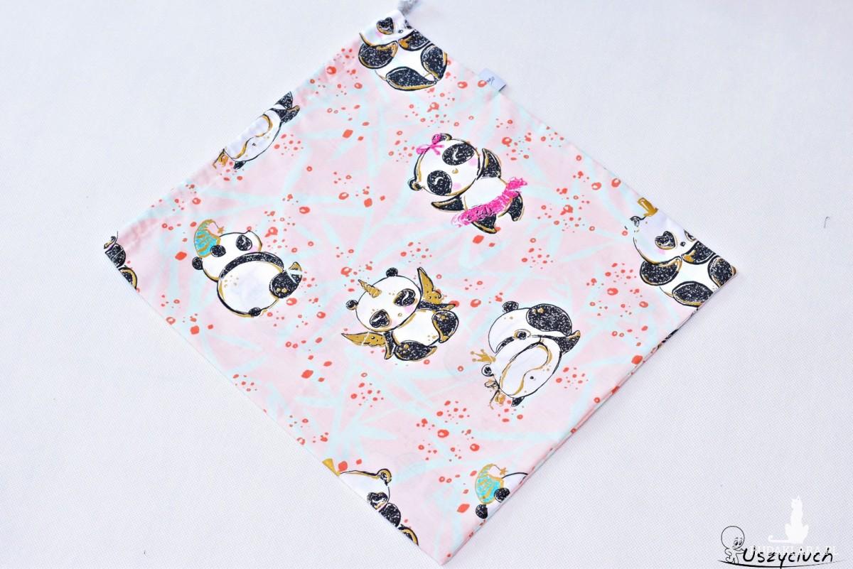 Worek na buty worek na kapcie do przedszkola do szkoły worek szkolny na ubrania panda