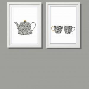 Grafiki do kuchni lub jadalni, komplet 2 sztuki