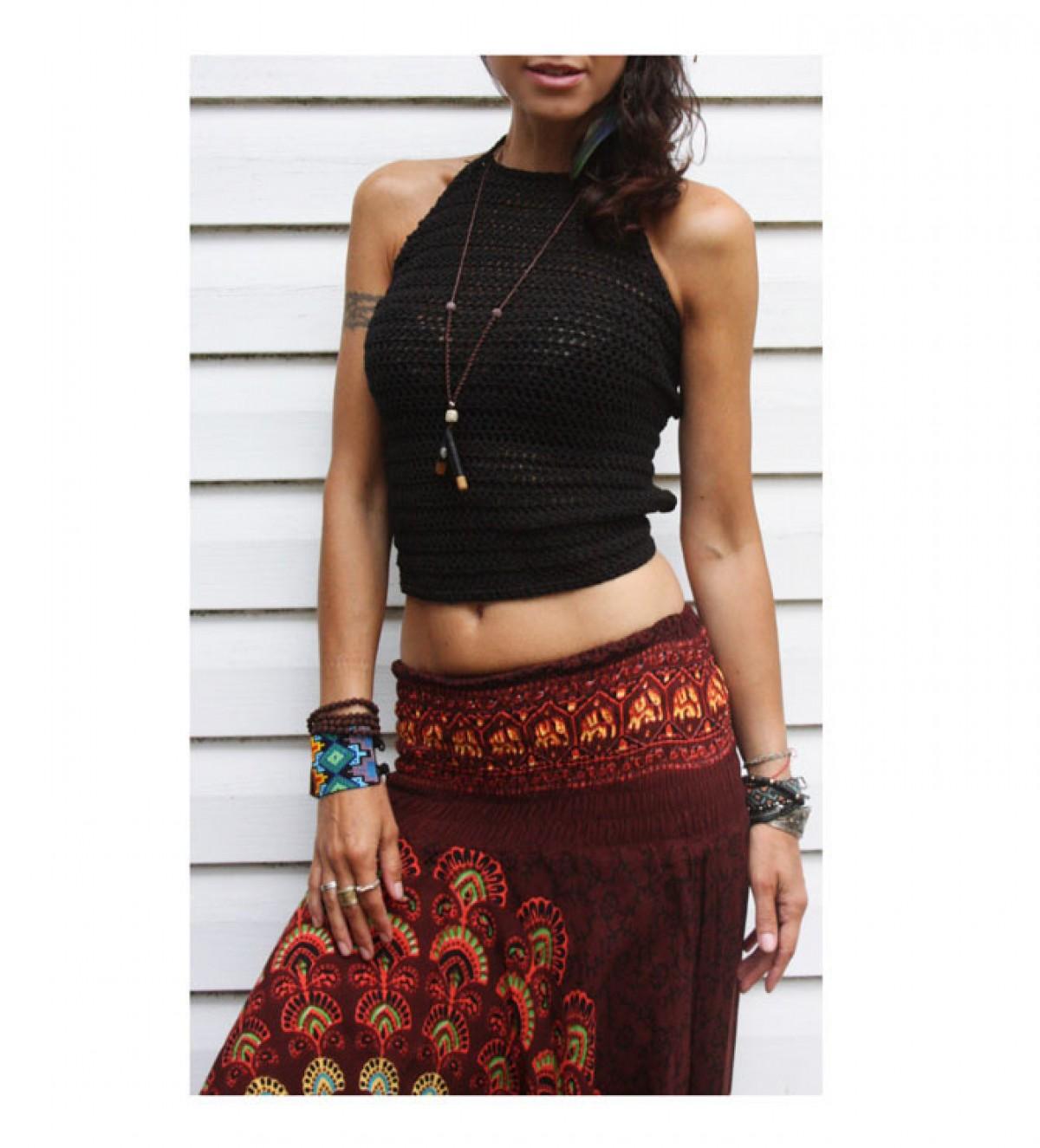 Top boho hippie handmade