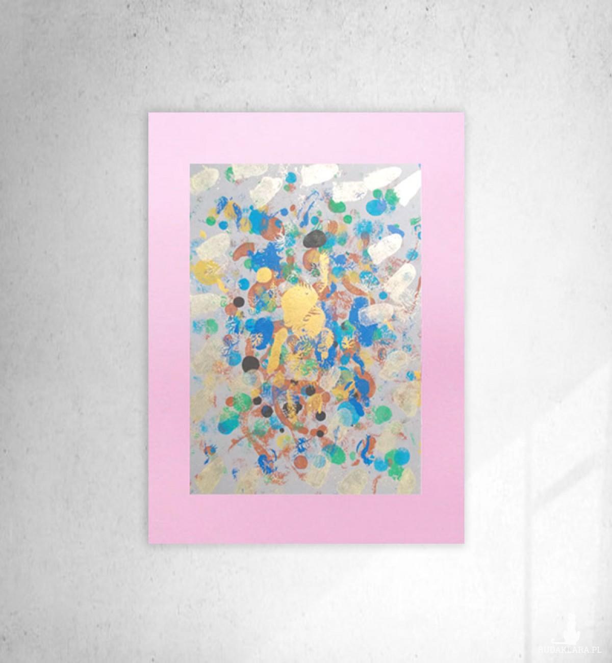 abstrakcyjny rysunek do domu, nowoczesna grafika na ścianę, abstrakcja do sypialni