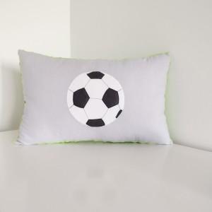 Poduszka z piłką zielony minky
