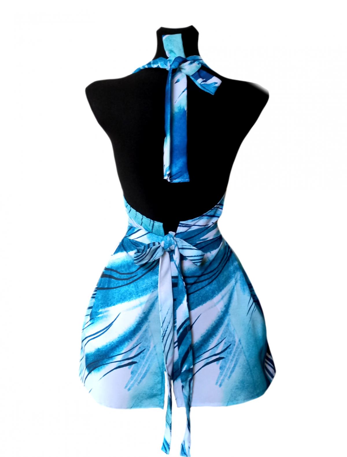 Fartuch kuchenny sukienkowy niebieski