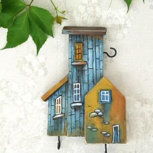 Kolorowy wieszaczek na klucze, drewniany, ręcznie malowany