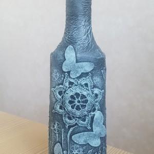Butelka zdobiona Motyle