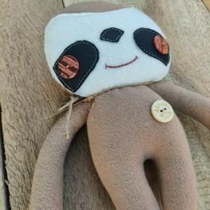 Leniwiec, przytulanka dla dzieci handmade