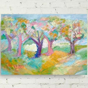 rysunek z księżycem, księżyc obrazek na ścianę, akwarela, bajkowy rysunek, dekoracja do dziecięgo pokoju