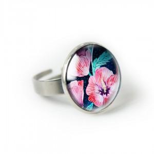 Hibiskus pierścionek