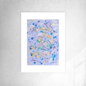 abstrakcyjny rysunek do pokoju, nowoczesna grafika do sypialni, abstrakcja malowana ręcznie, minimalizm dekoracja na ścianę
