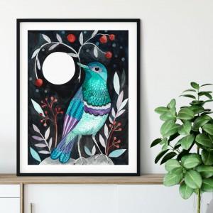 Moon bird 50x70