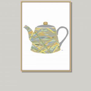 Grafika do kuchni lub jadalni, pastelowa, nowoczesna, minimalistyczna