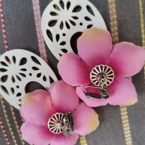 Klipsy długie kolorowe kwiatowe