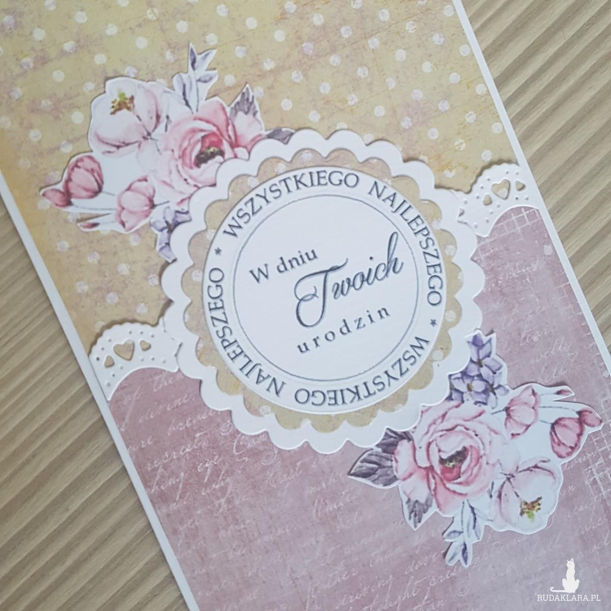 Kartka urodzinowa kwiaty 2