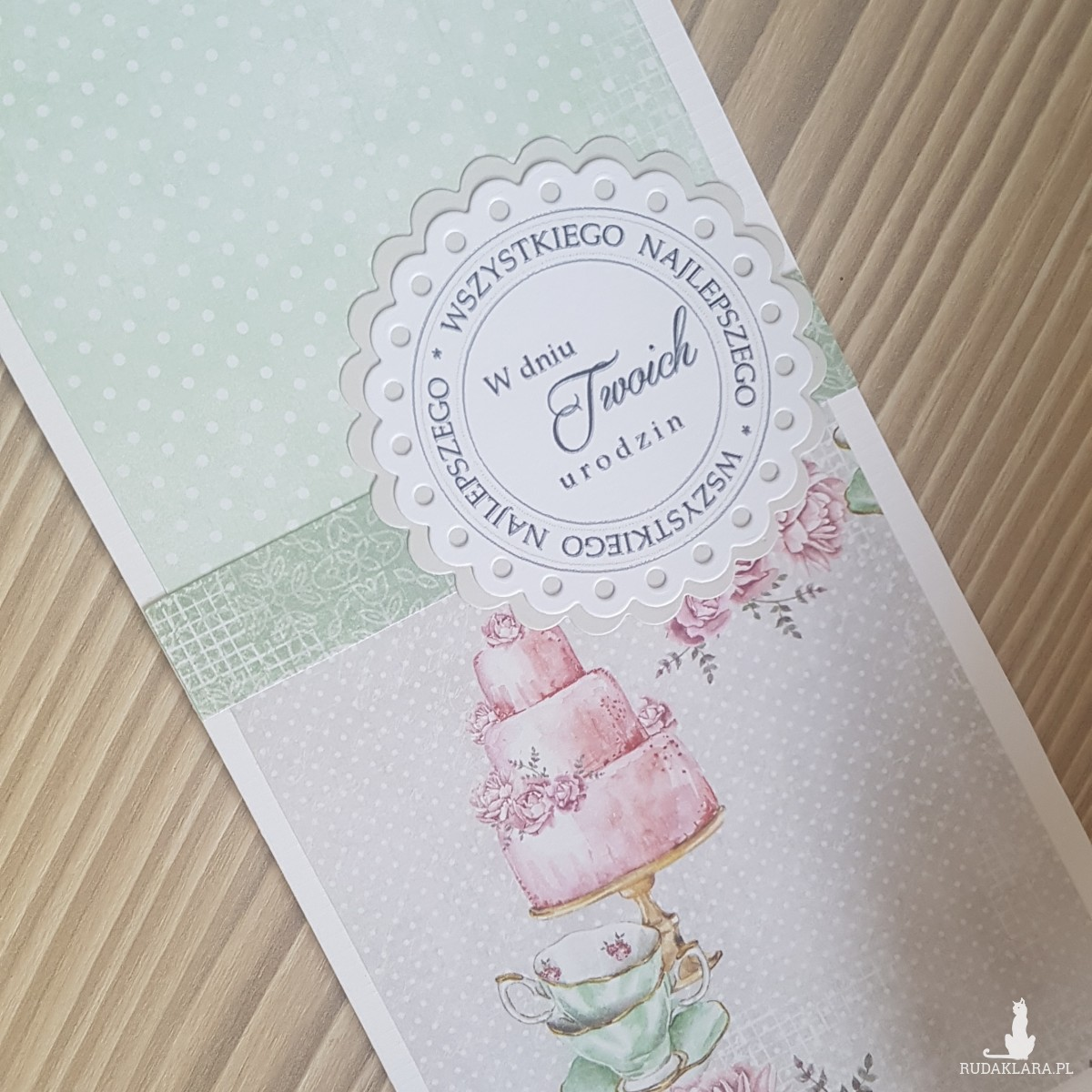 Kartka urodzinowa tort