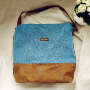 Niebieska boho bag