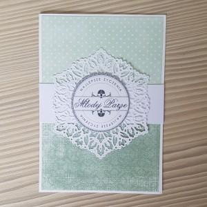 Kartka ślubna zielona