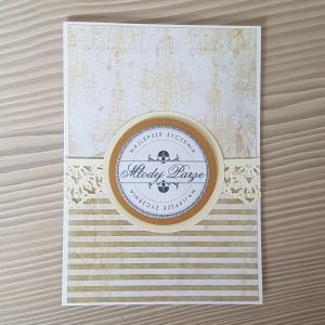 Kartka ślubna paski
