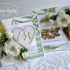 Leśna kartka ślubna w pudełku