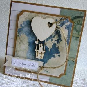 Kartka ślubna dla podróżników