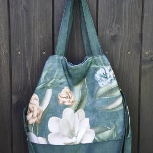 Torba hobo XXL - print magnolia
