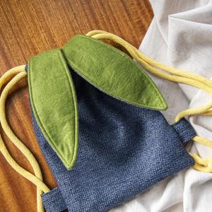 Mini plecak niebieski królik