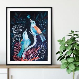 Night bird 50x70