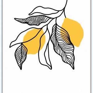 Grafika do kuchni lub jadalni, cytryny
