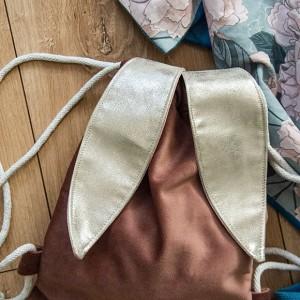 Mini plecak królik pudrowy róż