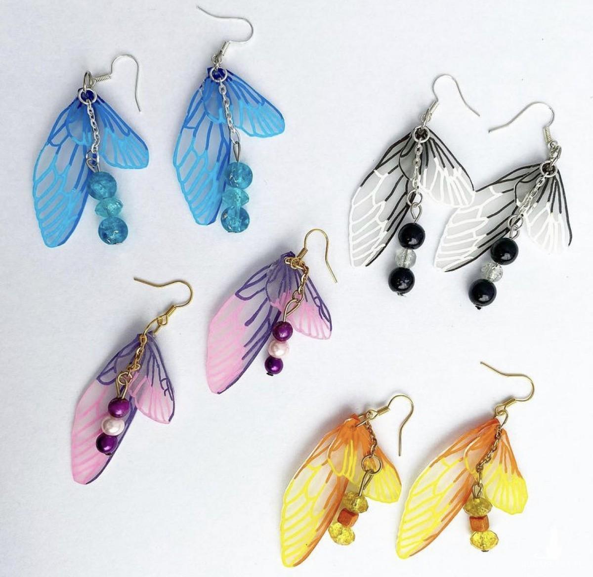 Kolczyki Motyl 1