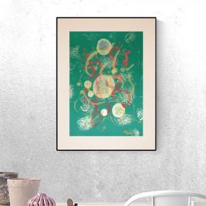 abstrakcyjna rysunek A3,  minimalistyczna grafika do sypialni, abstrakcja obraz do salonu
