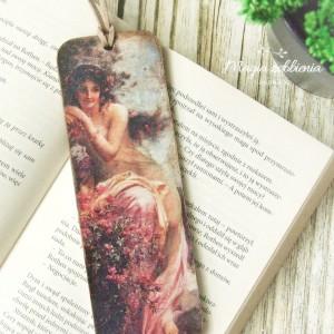 Zakładka do książki Vintage - Kobieta, Kwiaty nr. 2