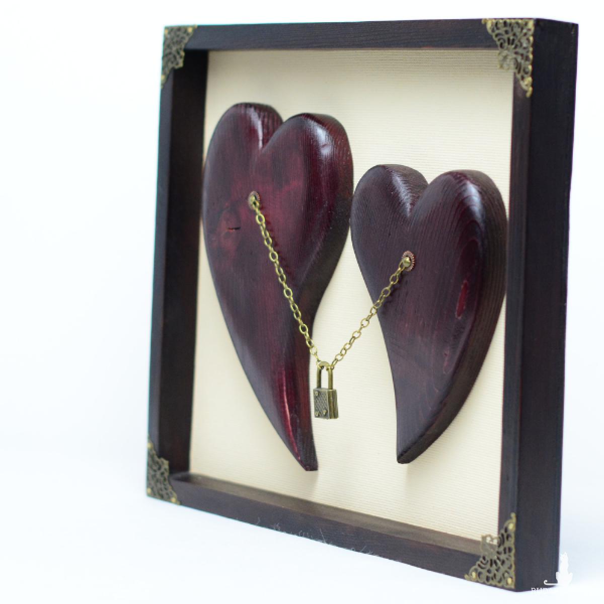 Nierozłączne serca - prezent dla ukochanej osoby.