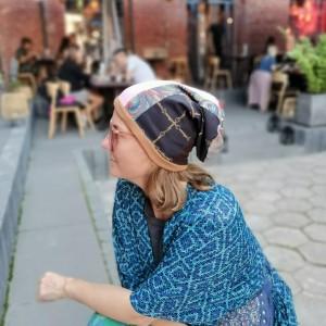 Czapka patchworkowa damska