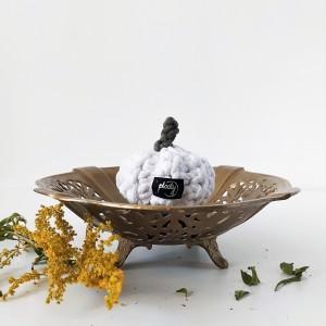 Dynia Halloween biała mała