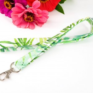 Smycz do kluczy brelok w liście palmy