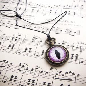 Naszyjnik zegarek ze smoczym okiem