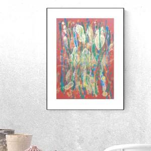 nowoczesna grafika do domu, minimalizm obrazek, dekoracja na ścianę, abstrakcja malowana ręcznie, abstrakcyjny rysunek do sypialni
