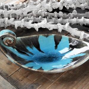 Ceramiczna, ręcznie robiona podstawka pod palo santo