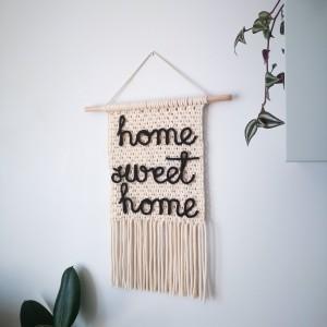 Makrama makatka z napisem Home sweet home