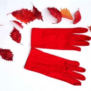 Rękawiczki dzininowe czerwone