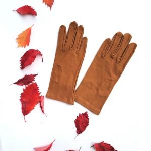 Rękawiczki dzininowe ciepły braz