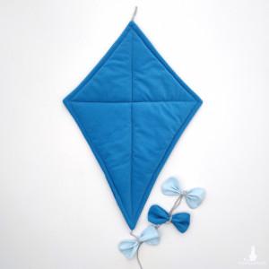 Welwetowy latawiec (niebieski)