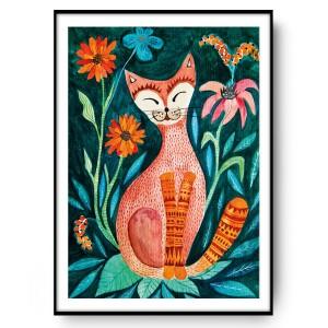 Orange cat 50x70