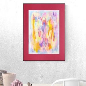 kolorowa abstrakcja, energetyczny rysunek do domu, nowoczesna grafika do salonu, abstrakcyjny obrazek na ścianę, dekoracja do loftu