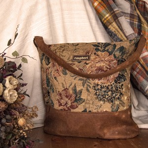 Żakardowa boho bag w kwiaty