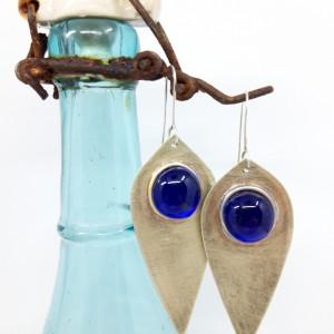 Kolczyki Irysy kobaltowe