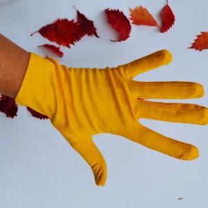 Rękawiczki dzininowe żółte