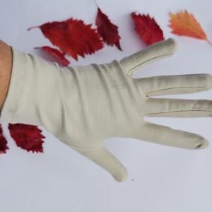 Rękawiczki dzininowe kremowe