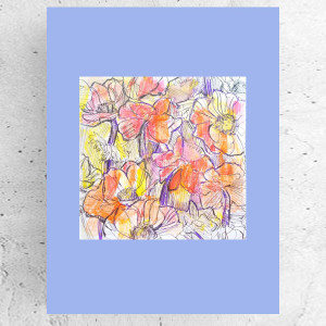 mały obrazek z kotem, kot grafika na ścianę, kotek rysunek A4, dekoracja z kotkiem, obraz z kotkiem