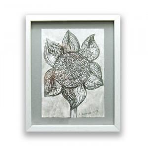 granatowy obrazek z kotem, kot plakat A4, kot grafika na ścianę, rysunek z kotem